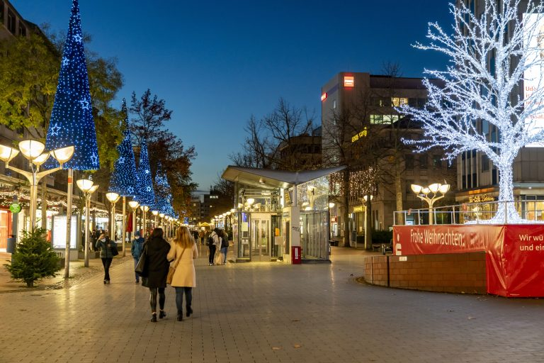 Innenstadt Duisburg im Corona-Lockdown