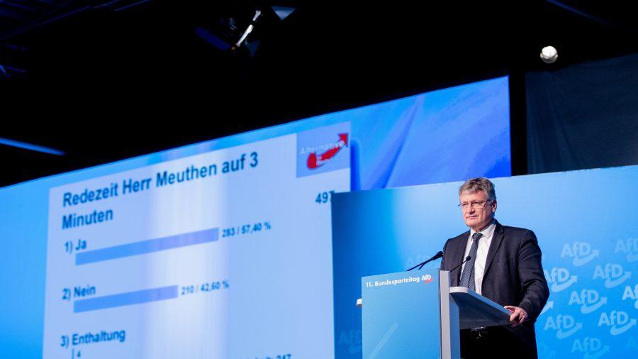 AfD-Chef Jörg Meuthen am Sonntag auf dem Bundesparteitag