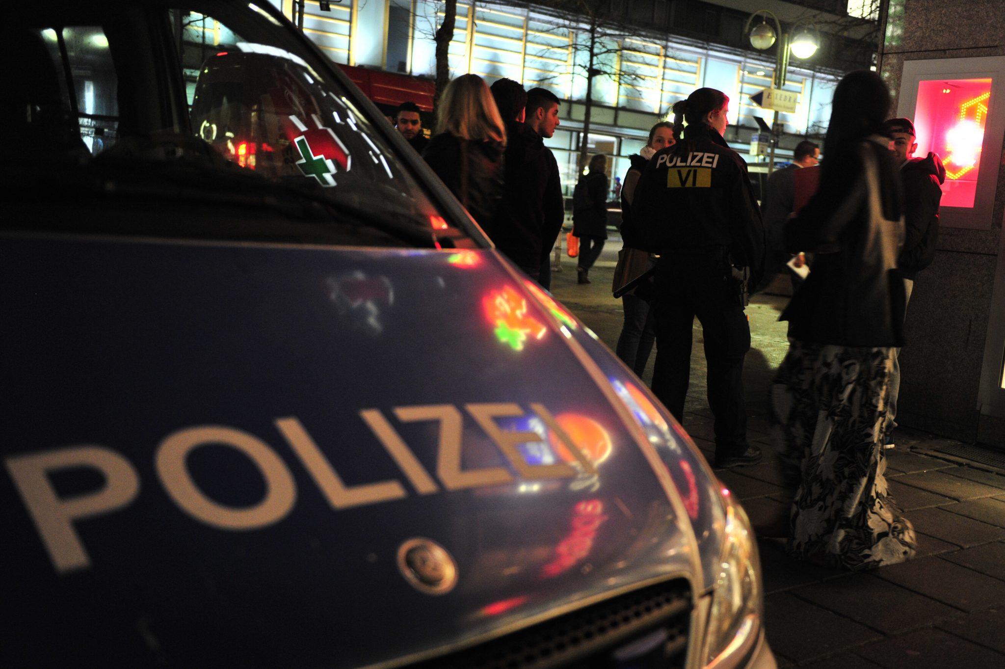 Polizeieinsatz in der Zeil in Frankfurt am Main