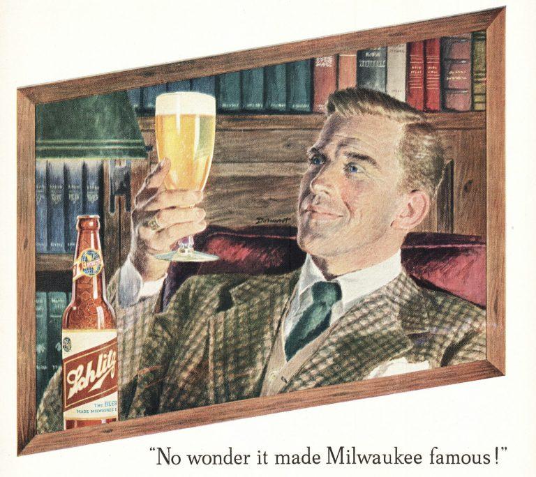 Alte Werbung für die US-Biermarke Schlitz: Soziologen beklagen, Bier grenze nichtweiße Gruppen aus Foto: picture alliance/Mary Evans Picture Library