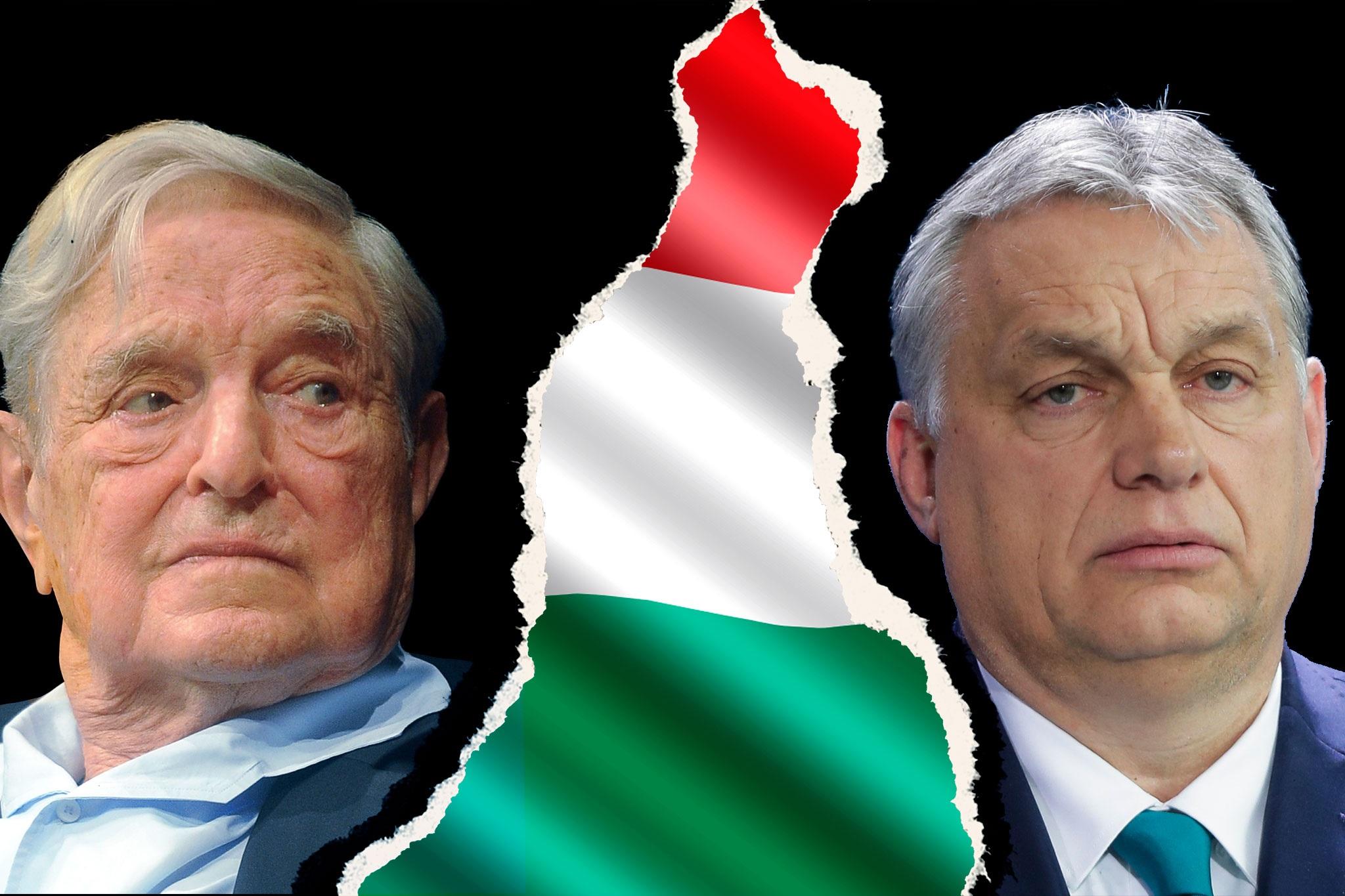 George Soros (l.) und Ungarns Ministerpräsident Viktor Orban Foto: Picture-Alliance / AP Photo / Markus Schreiber/Wikimedia Commons / Niccolò Caranti /JF-Montage