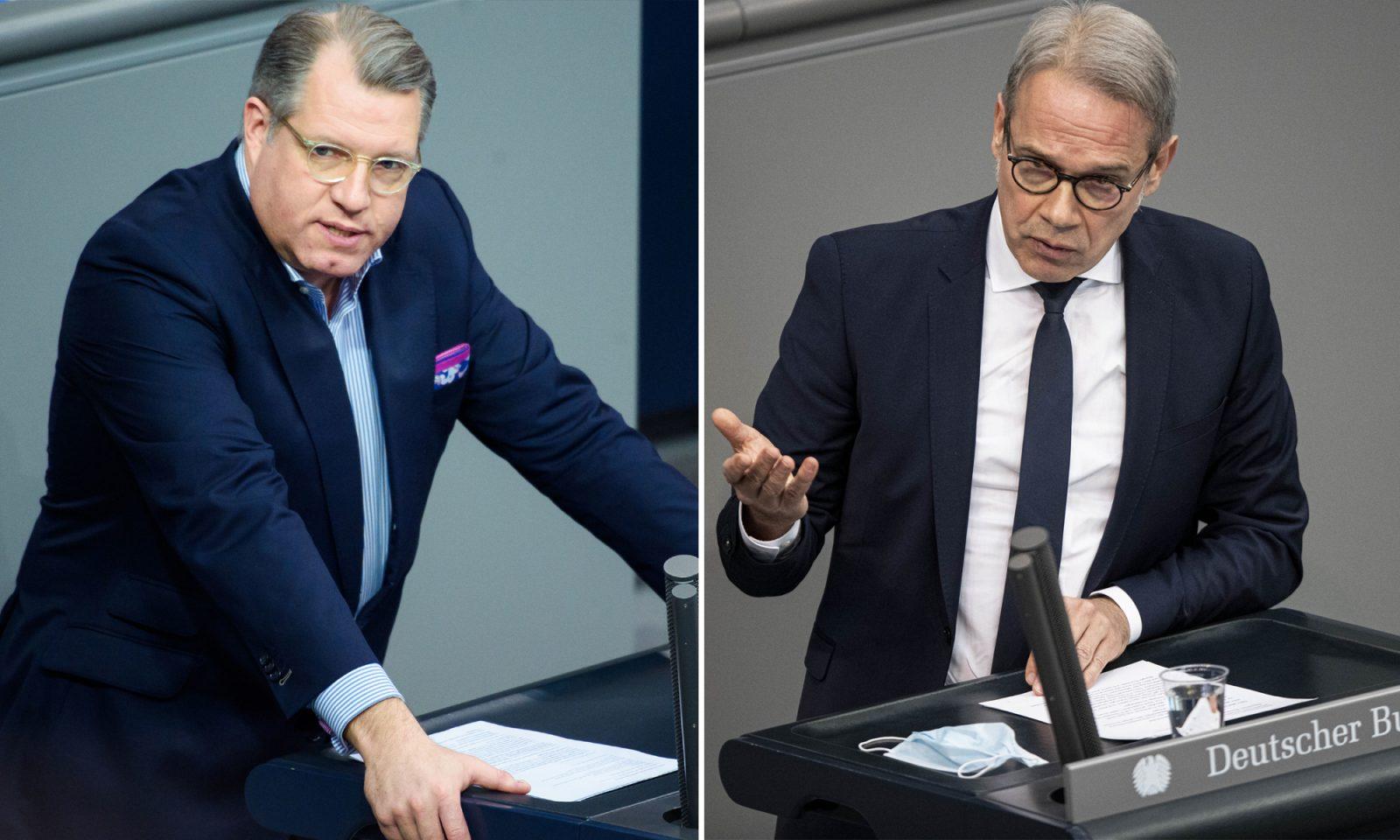 Michael Kuffer (CSU, l.) und Georg Maier (SPD): Für Verfassungsschutzbeobachtung und AfD-Verbot