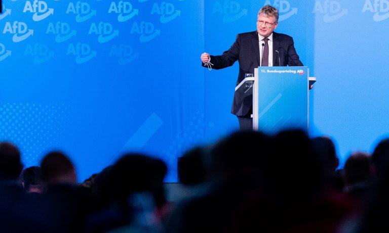 AfD-Chef Jörg Meuthen spricht auf dem Bundesparteitag in Kalkar