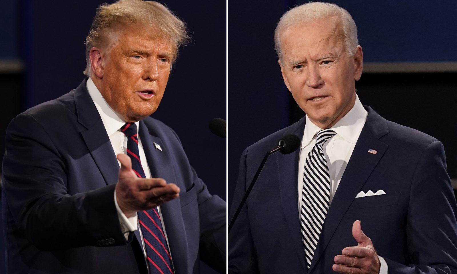 US-Präsident Donald Trump und Herausforderer Joe Biden