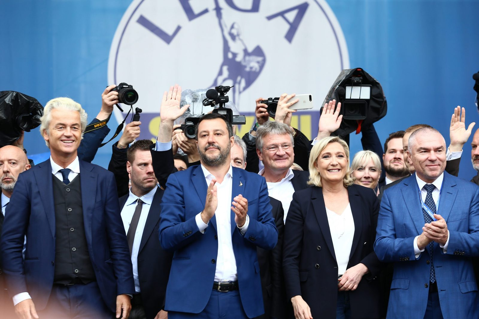 Vertreter der europäischen Rechten in Mailand im Mai 2019.