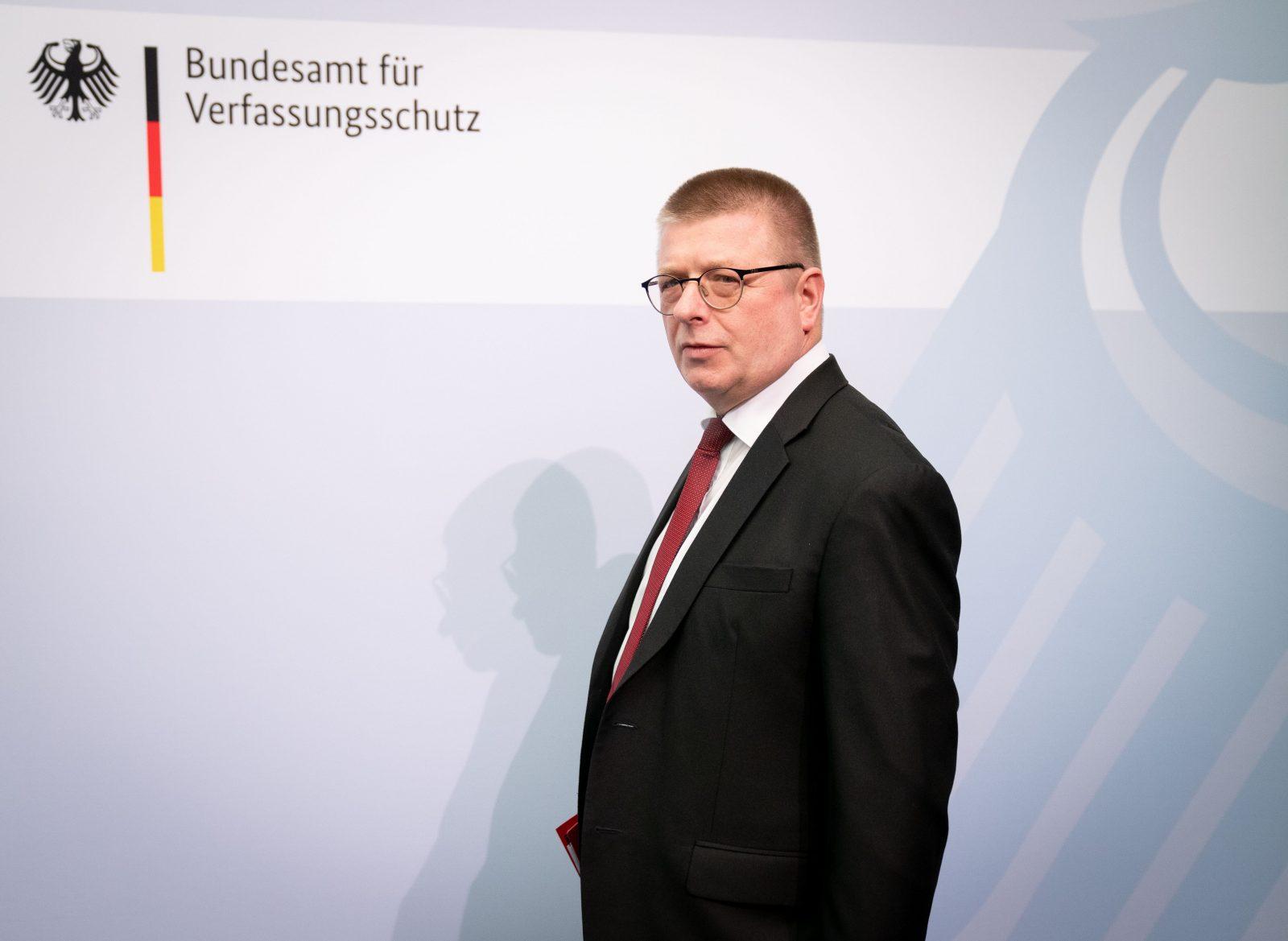 Verfassungsschutzpräsident Thomas Haldenwang prescht als Leiter seiner Behörde in der Öffentlichkeit schonmal vor Foto: picture alliance/dpa | Kay Nietfeld