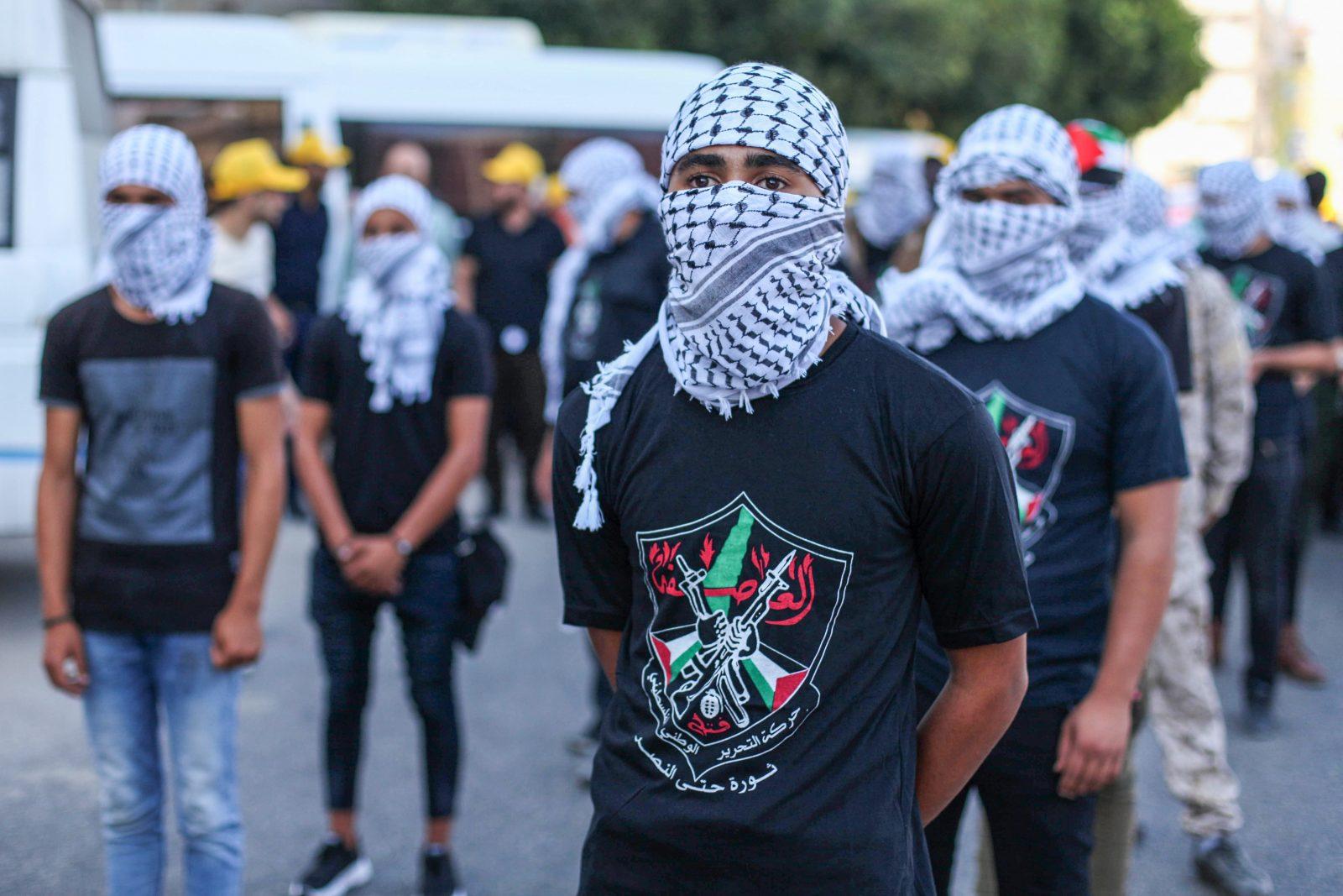 Unterstützer der Fatah Bewegung demonstrieren in Gaza City Foto: picture alliance / ZUMAPRESS.com | Mahmoud Ajjour