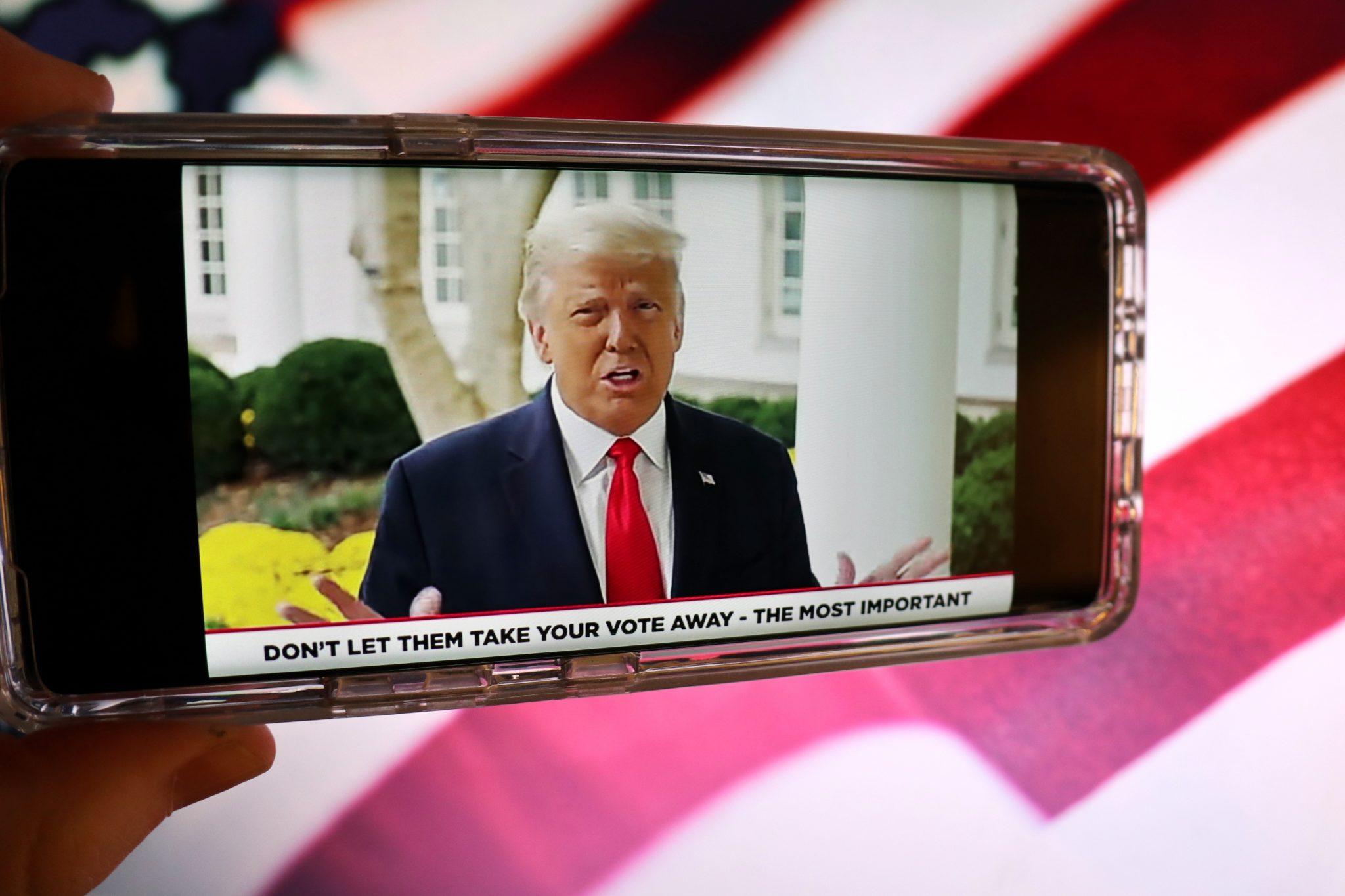 US-Präsident Donald Trump in einem YouTube-Video zur Wahl
