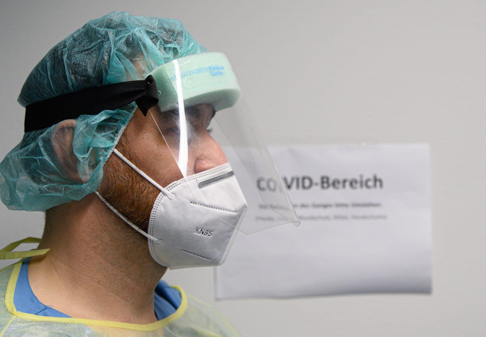 Corona-Station in einem Krankenhaus: Keine Übersterblichkeit bei 60-79jährigen