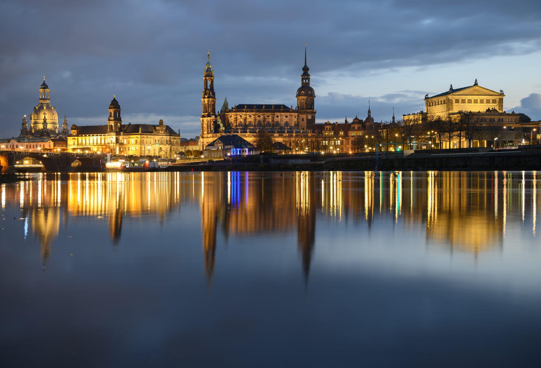 Anblick von Dresdens Altstadt