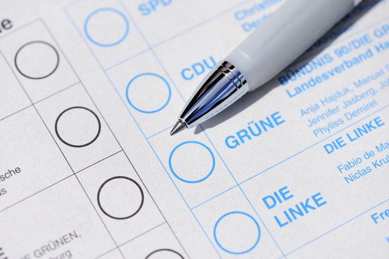 Stimmzettel: 90 Prozent der Grünen-Wähler machen ihre Entscheidung von der Klimapolitik der Parteien abhängig