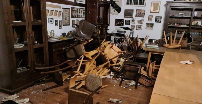 Das Innere des Verbindungshauses ist verwüstet Foto: www.tagesstimme.com