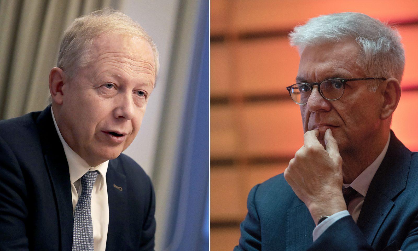ARD-Vorsitzender Tom Burhow (l.) und ZDF-Intendant Thomas Bellut: Klagen für Gebührenerhöhung