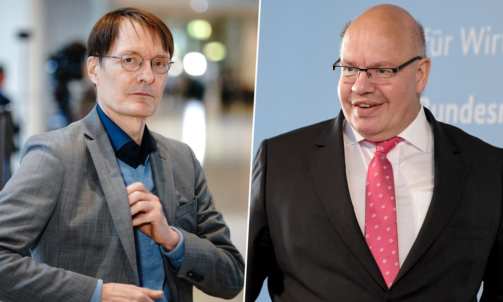 Karl Lauterbach (SPD) und Peter Altmaier (CDU):Sitzen am häufigsten in Talkshows
