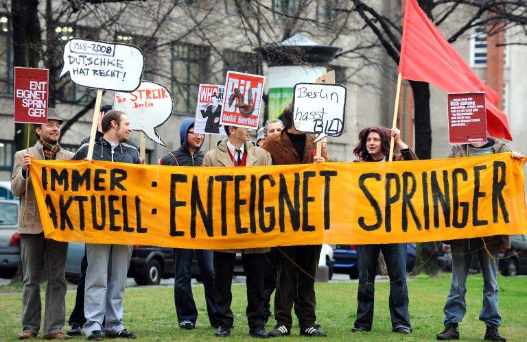 Protest gegen Springer-Medien