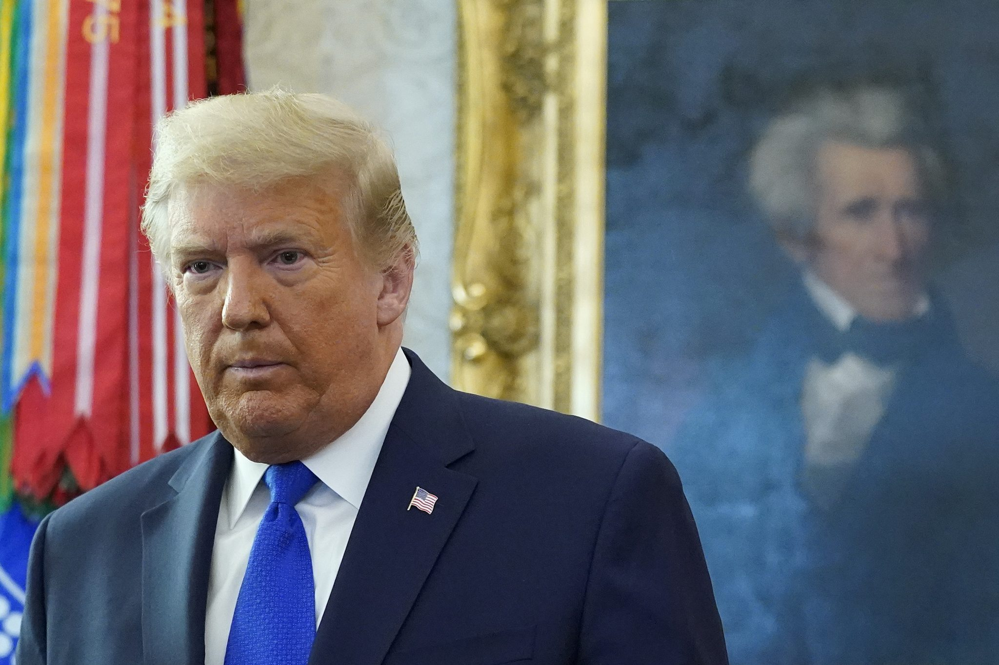 Der scheidende US-Präsident Donald Trump im Weißen Haus