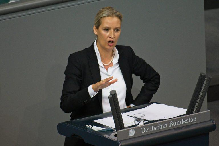 Die AfD-Fraktionsvorsitzende Alice Weidel befürchtet durch die Impfpflicht eine Zwei-Klassen-Gesellschaft Foto: picture alliance / Eibner-Pressefoto | Uwe Koch/ Eibner-Pressefoto