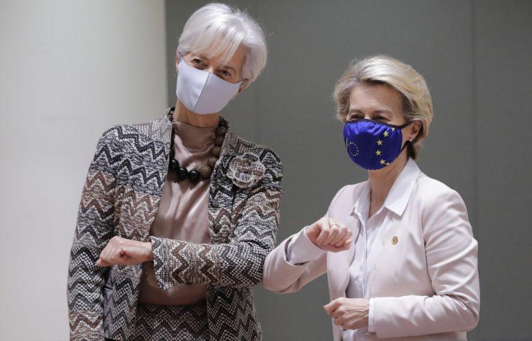 EZB-Chefin Christine Lagarde (l.) mit EU-Kommissions-Chefin Ursula von der Leyen (CDU)