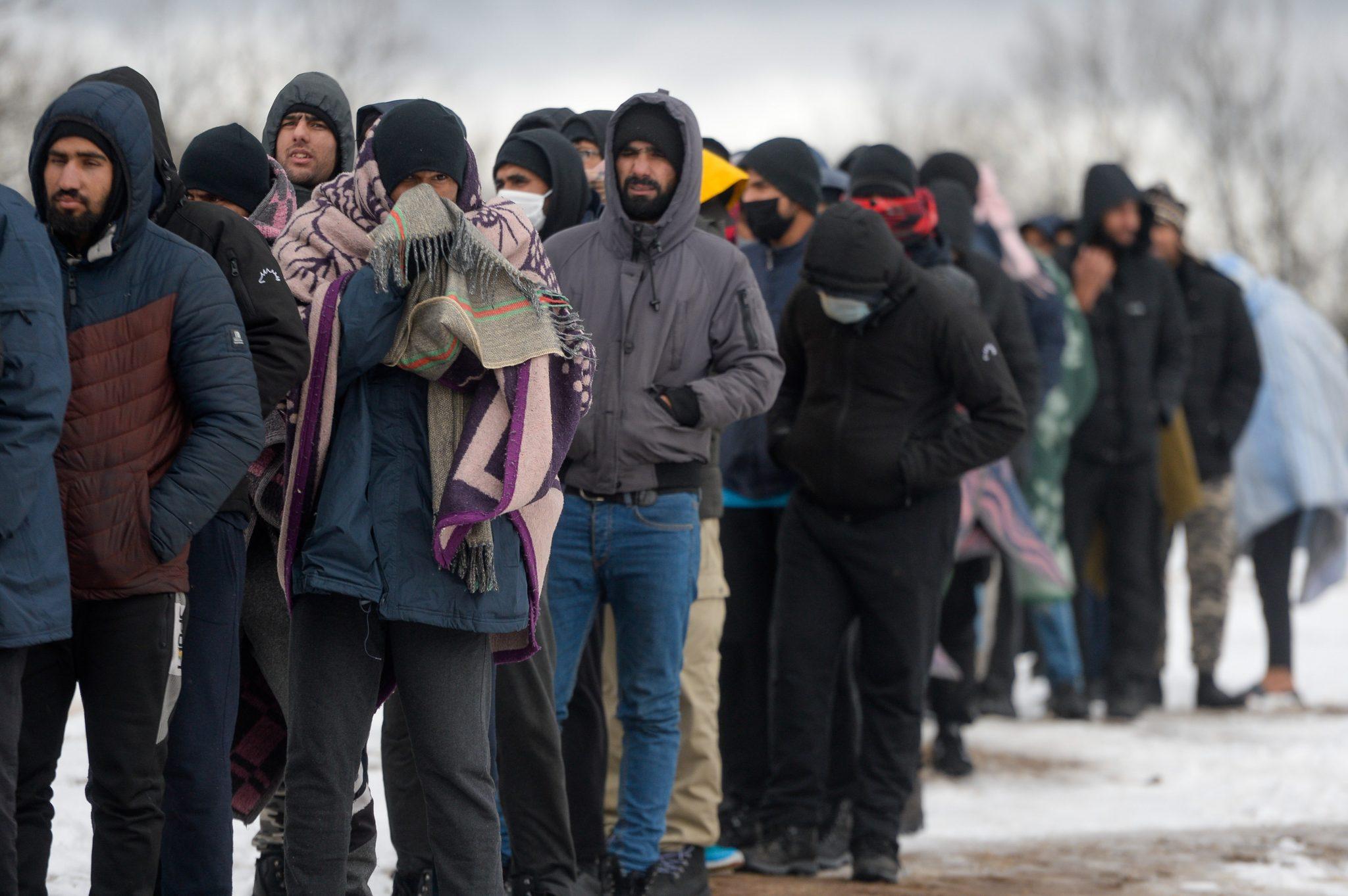 Migranten in Bihac in Bosnien.