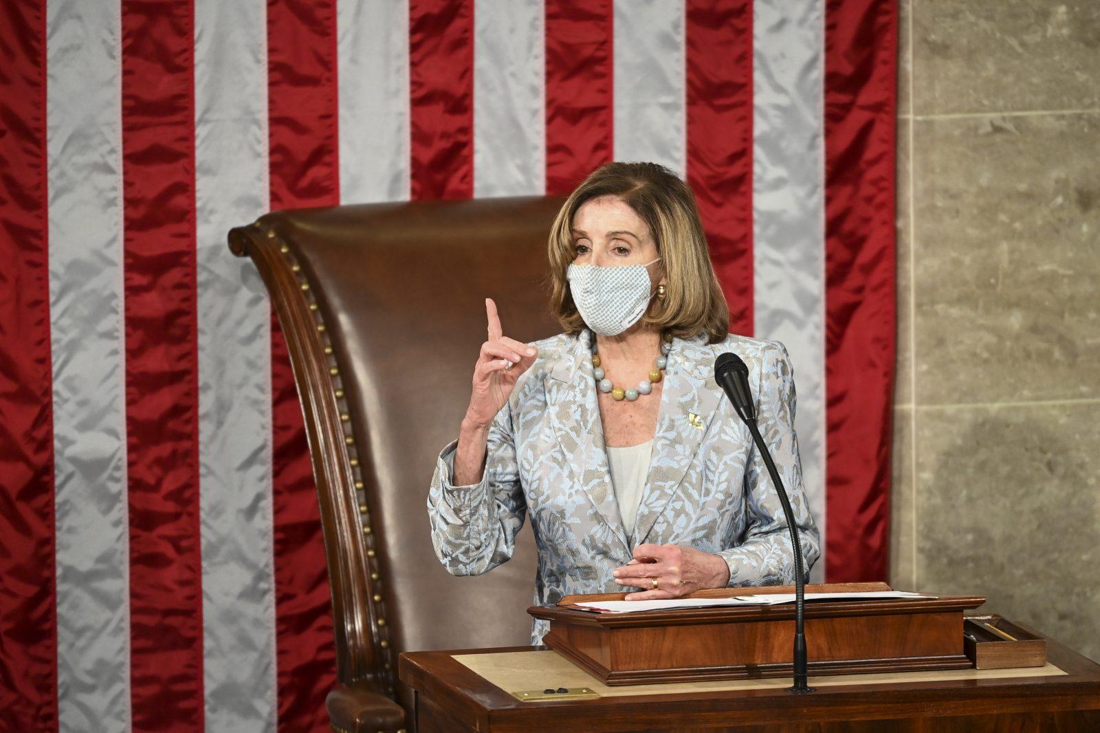 Vorsitzende der Demokraten im Repräsentantenhaus, Nancy Pelosi