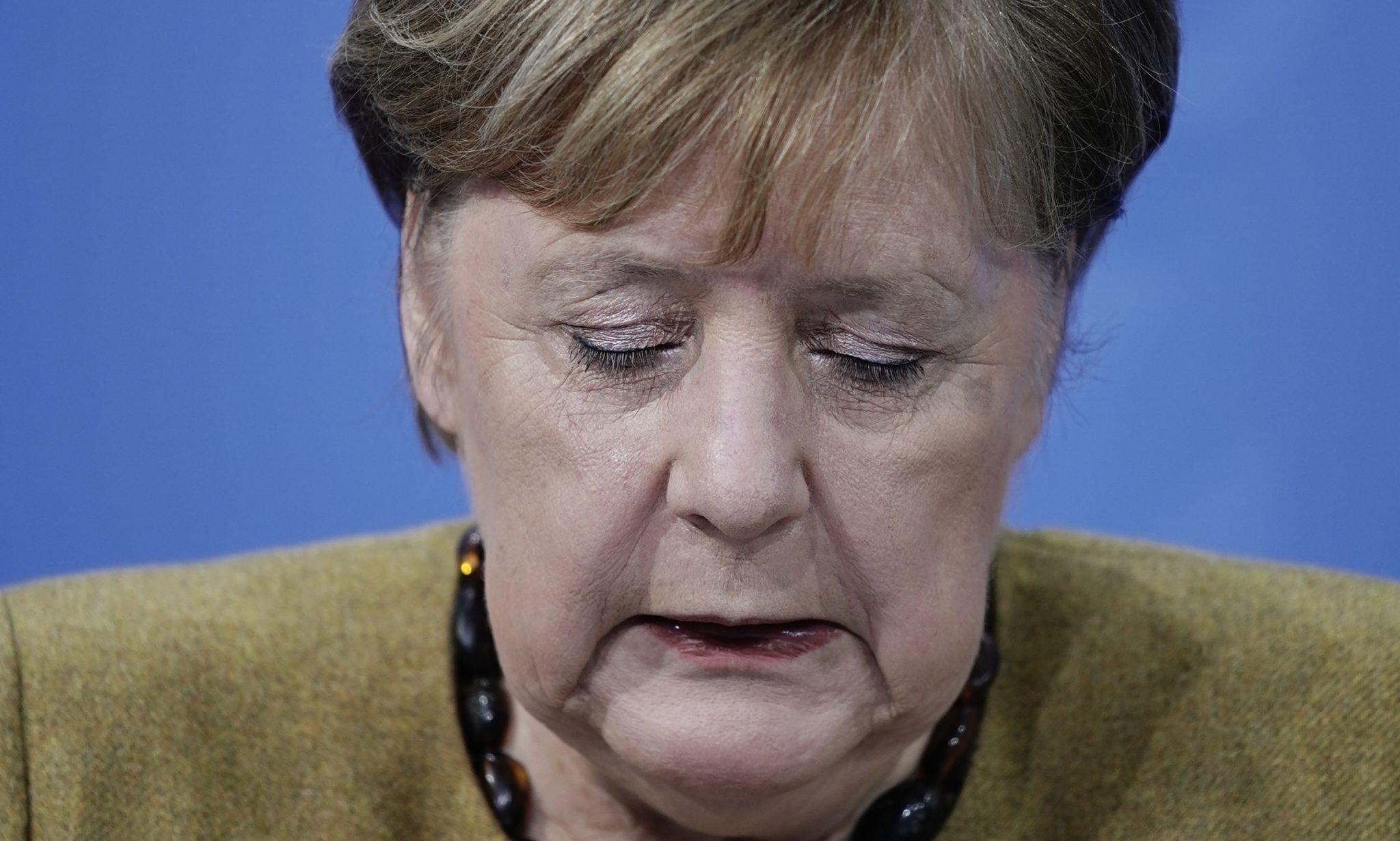 undeskanzlerin Angela Merkel erklärt neue Lockdown-Maßnahmen