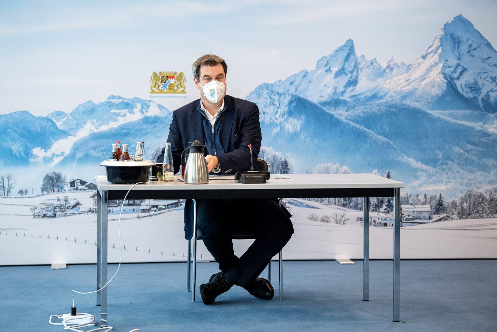 Bayerns Ministerpräsident Markus Söder (CSU) verhängt immer neue Corona-Maßnahmen Foto: picture alliance/dpa/dpa-POOL | Matthias Balk
