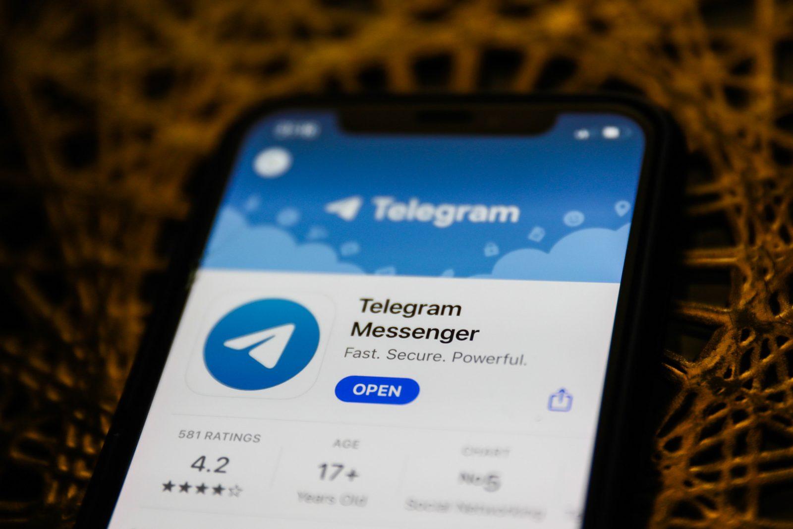"""Telegram im Apple-""""App Store"""""""