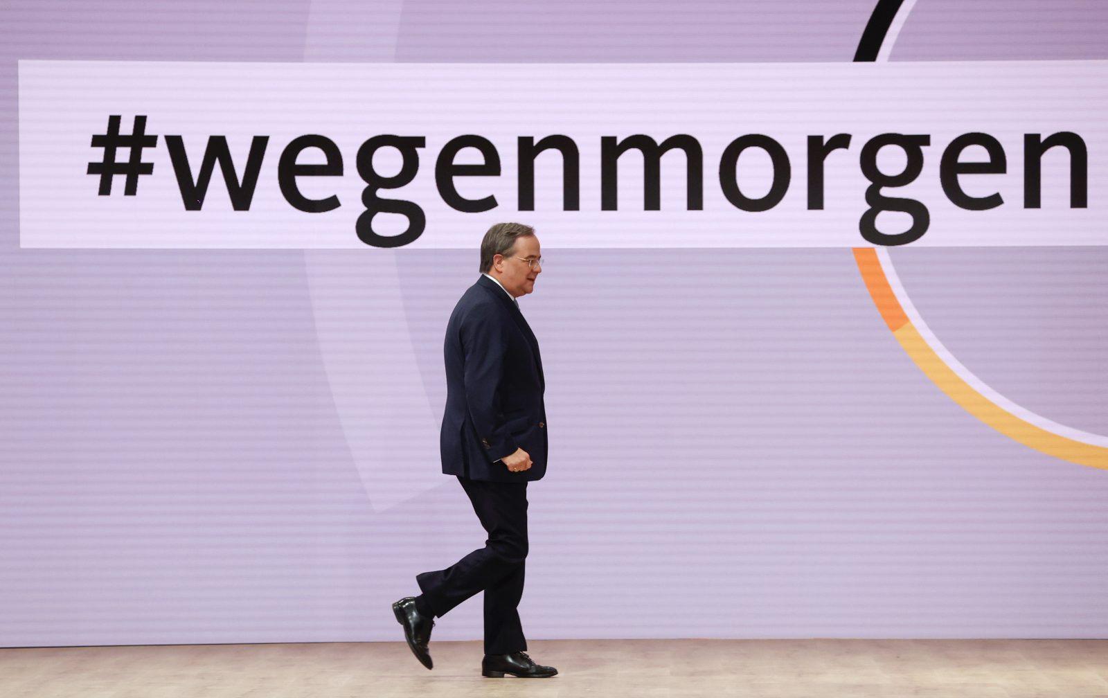 Armin Laschet auf dem Digitalparteitag am Sonnabend in Berlin