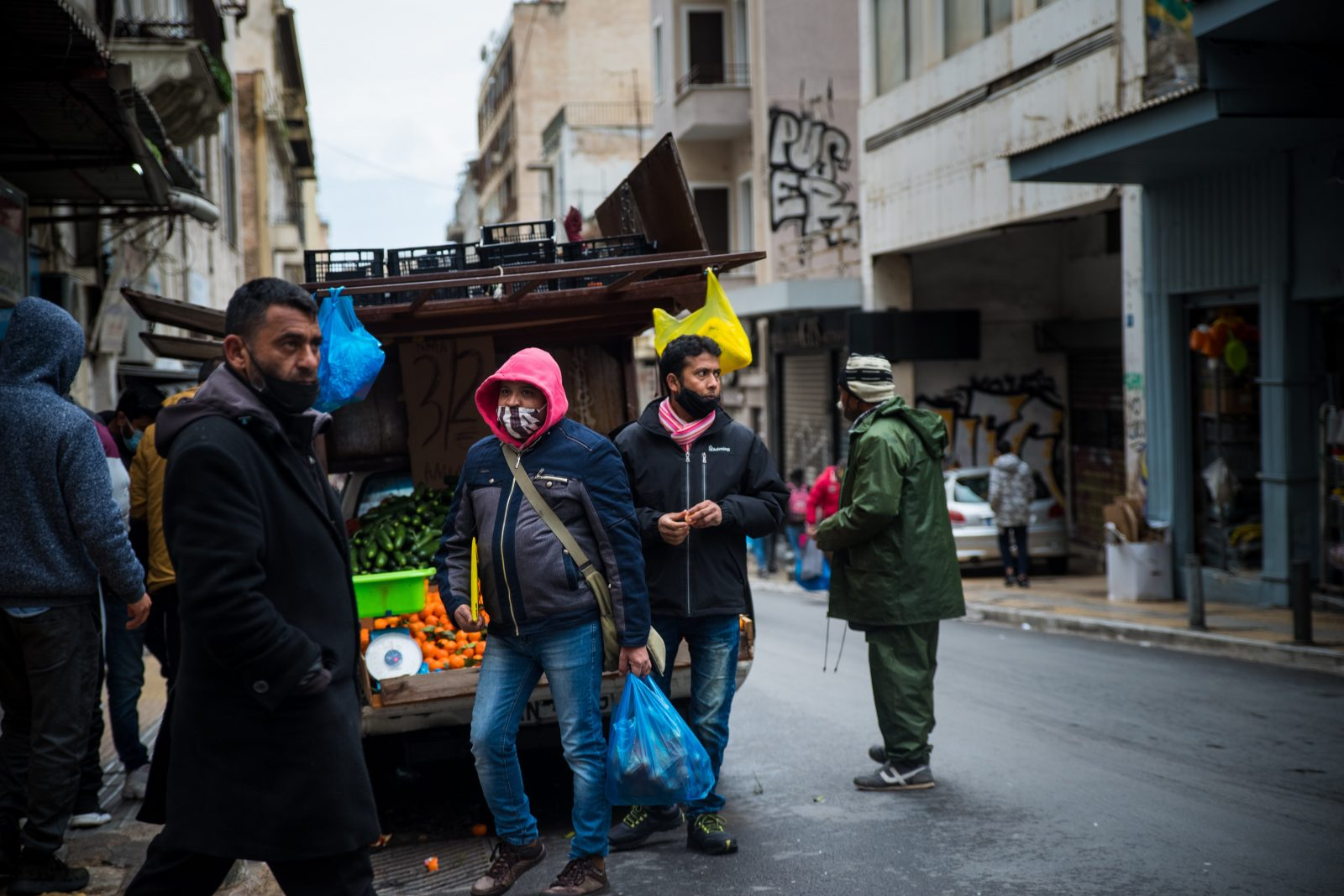 Migranten in Athen