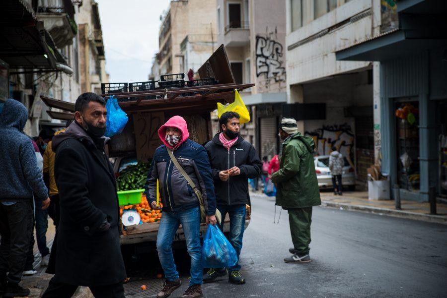 Migranten in Athen