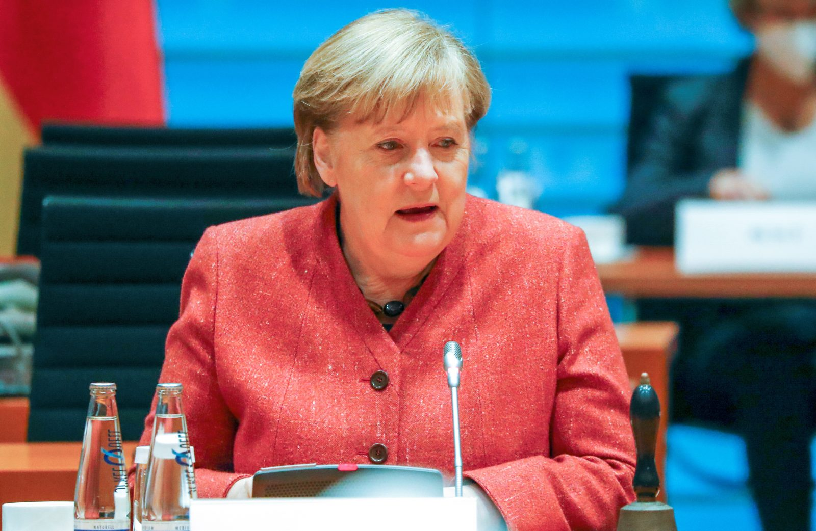 Der Lockdown bereitet Bundeskanzlerin Angela Merkel (CDU) Sorge hinsichtlich der Bildung von Migrantenkindern Foto: picture alliance/dpa/Reuters/Pool | Fabrizio Bensch