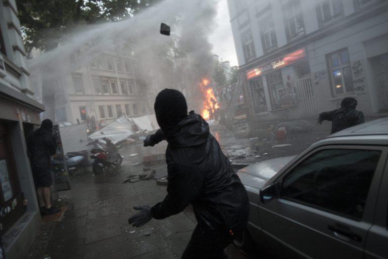 Linksextremist 2017 bei gewaltsamen Protesten gegen den G20-Gipfel in Hamburg