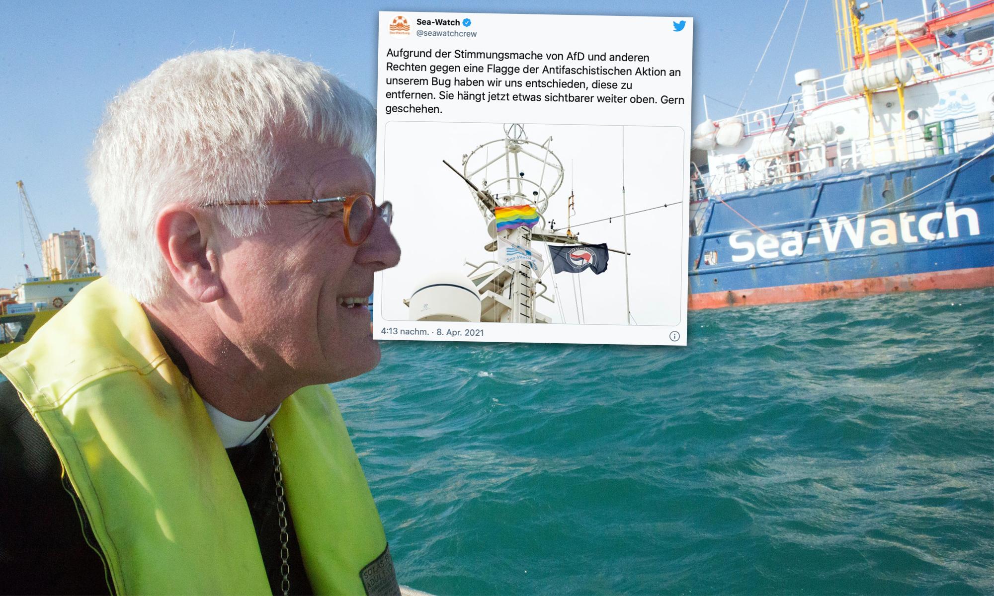 EKD-Chef rät Sea-Watch, Antifa-Flagge einzuholen