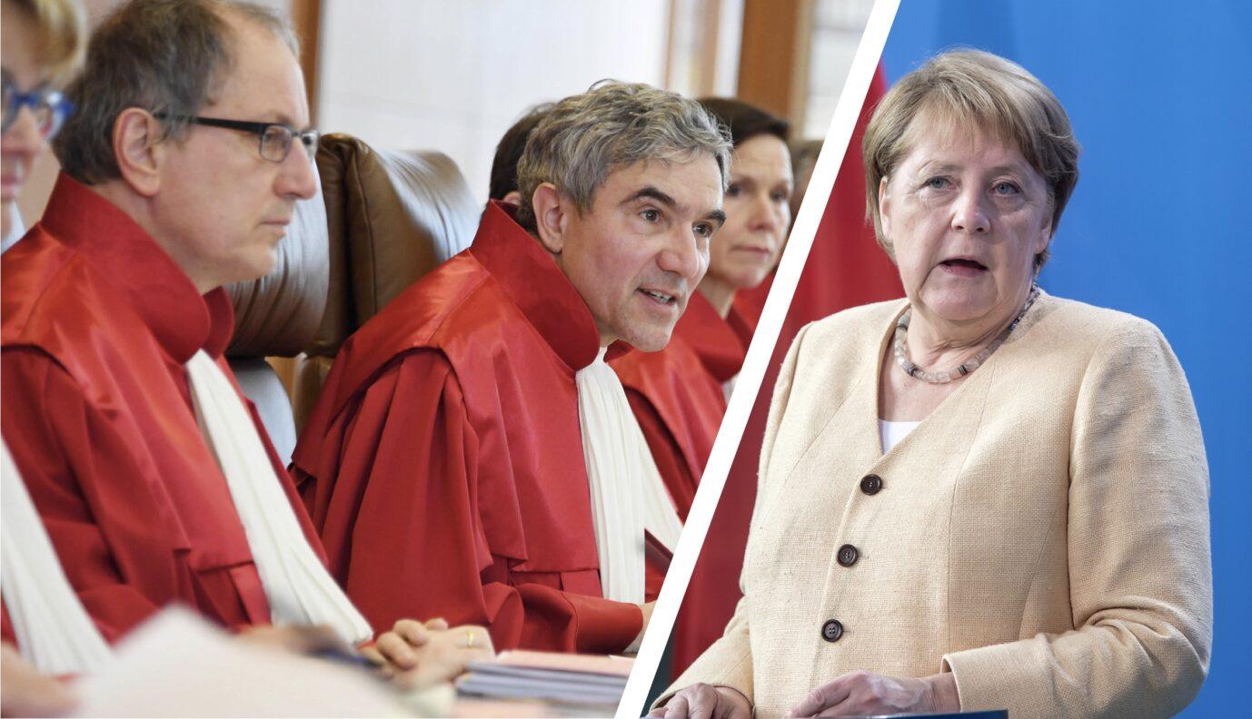 Merkel lädt Verfassungsrichter während eines Verfahren zum Abendessen